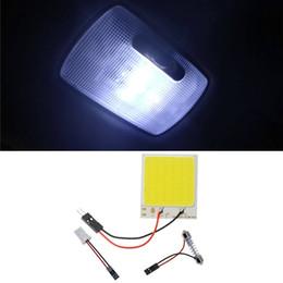 car dome light adapter 2019 - Auto COB Led Dome Bulb Light 24 36 48 SMD Car Interior Reading Panel Lamp T10 Adapter Festoon Base discount car dome lig