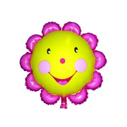Flower Balloons UK - DBCY 2019 new style 25inch 34inch 36inch 44inch Sun flower foil air foil Balloons ornaments Toy Use nylon party balloon manufacturer