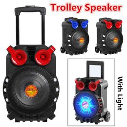 Tft Speakers NZ - Trolley speakers High Power bluetooth Audio Speaker Light Singing TFT Display USB TF Card BT Karaoke KTV System With Light