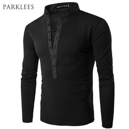 $enCountryForm.capitalKeyWord Australia - New Trend Black Polo Shirt Men Polo Homme 2016 Autumn Fashion Mens Slim Fit Long Sleeve Henley Shirt Casual Cotton Polos Xxl MX190711