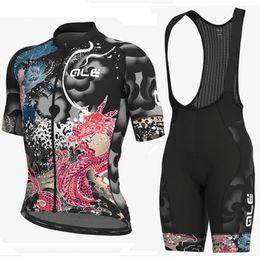$enCountryForm.capitalKeyWord Australia - ALE 2019 Cycling Jersey Bicycle Short Sleeve shirt 9D Pad Bib Shorts set MTB Bike Wear Quick Dry Breathable racing clothing
