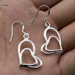 $enCountryForm.capitalKeyWord Australia - Exquisite Silver Plated Hook Earring For Women Unique Heart Shaped Drop Earring New Fashion Party Gifts Jewelry