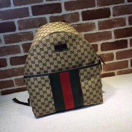 $enCountryForm.capitalKeyWord NZ - 2019 Top Quality Celebrity design Letter embossed Badge canvas leather Backpack Man Woman 190278 Travel bag