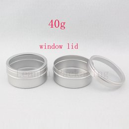 Skins Windows Australia - 40g X 100 empty skin care cream aluminum containers with window cap,metal aluminum jar window lid ,metal bottle tin pot can