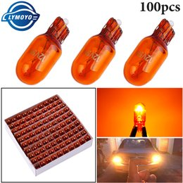 $enCountryForm.capitalKeyWord Australia - 100pcs T10 501 W5W New Natural Amber Glass Xenon Upgrade Halogen Bulb 12V 5W Turn Side License Plate Light car parking Fog light