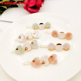 $enCountryForm.capitalKeyWord Australia - Japan and Korea New Spring Style Lady's Simple and Sweet Acetate Hair Clip Heart and Round Shape Girl's Hair Accessories