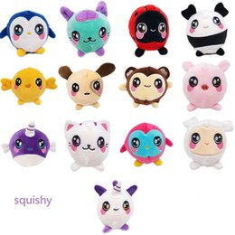 Toys Cell Phone NZ - Squishy Plush Dolls Slow Rising Jumbo Soft Toys Penguin Unicorn Animals Cell Phone Strap Charm Cute Kawaii Squeeze Kids Christmas Toys