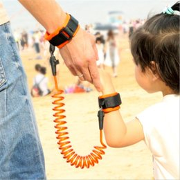 Security child anti loSe online shopping - Child Prevent Stray Spring Wire Children Anti Lost Strap Baby Security Blue Orange Traction Rope New Arrival wx L1