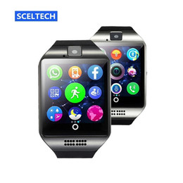 Bluetooth Smart Watch Sim Australia - Q18 smart watch Bluetooth Watches Wristwatch with Camera TF SIM Card Slot Pedometer Answer Call with Box for Android IOS iPhone Samsung