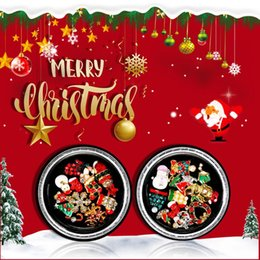 Christmas Gift Nails Australia - 1 Box Multicolor Christmas Style Nail Art Decorations Rhinestone Nail Art 3D Tips Manicure Tool Nails Accessoires Beauty Gift