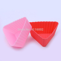 $enCountryForm.capitalKeyWord Australia - 500pcs Trilateral Shape MaFen Cup Silicone Muffin Cake Cupcake Cup Cake Mould Case Bakeware Maker Mold Tray Baking Tool
