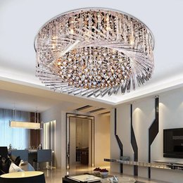 cool ceiling designs 2020 - Modern k9 Crystal LED Ceiling Lamp Living Room Bedroom Lights LED Crystal Lamp Bird's Nest Design Chandeliers Light