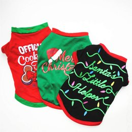 $enCountryForm.capitalKeyWord Australia - High quality simple fashion dog cotton casual Christmas vest, t-shirt.