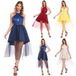 $enCountryForm.capitalKeyWord NZ - Fashion New Women Casual O-Neck Sleeveless Mesh See Through A-Line Pleated Sexy Dress New Fashion Clothing & Accessories graduation