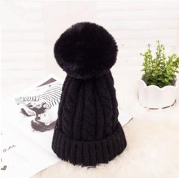 3e4552c73a2 2019 new fashion winter hat thick warm twisted wool hat wool ball knit hat