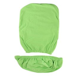 computer protectors NZ - Solid Color Stretchy Computer Chair Slipcover Cover Protector Split Design