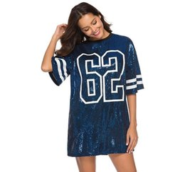plus size sequin t shirt Australia - Fashionable Sequin Shiny Loose Women s T-Shirt Plus Size Nice Dresses Short Sleeve Cheap Girl Tops Fast Shipping T-005