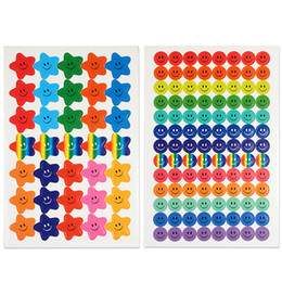 $enCountryForm.capitalKeyWord Australia - Happy Face Stickers And Smiling Star Stickers 20 Sheets 1390 Pcs Colorful Award Stickers For Kids Incentive Decorative For Books