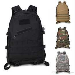Army bAckpAcks cAmo online shopping - 201910 Styles Unisex Outdoor Backpacks Camo Army Double Shoulder Bags Tactical Backpack Waterproof D Tourist Rucksack Climbing Bag G576F