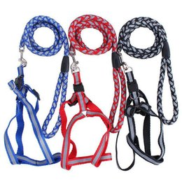 safety strips NZ - Pet Supplies Braces Dog Leash At Night Reflective Strip Safety Chest Strap Adjustable Dog Rope Leash Sling