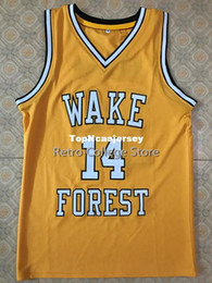 cbdf12828d0 #14 Tyrone Bogue Wake Forest Demon Deacons college Basketball Jersey All  Size Embroidery Stitched Customize any name and name XS-6XL vest Je