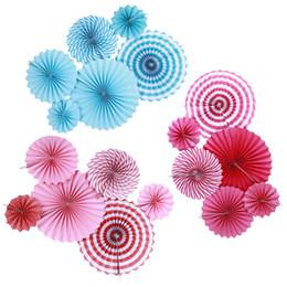 $enCountryForm.capitalKeyWord Australia - 6Pcs Set Tissue Paper Fan for Baby Birthday Shower Festival Celebrate Wedding Party Decoration Flower Paper Crafts 20 30 40cm
