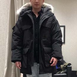 Dog Zipper Canada - Fashion Winter Down Parkas Men Brand Designer Zippers Clothing Outwear Warm Parka Outdoor Coats XXXL Plus Size Online