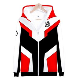 Costume 3xl woman online shopping - Avengers Hoodie Endgame Quantum Realm Cosplay Costume Hoodies Men Hooded Avengers Zipper Game Sweatshirt Jacket LJJO6619