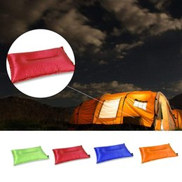 travel sleep Canada - Portable Fold Outdoor Air Inflatable Pillow Camping Hiking reak Rest Sleep Travel
