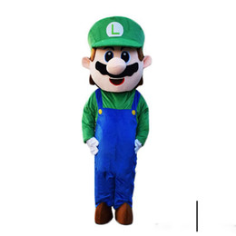 $enCountryForm.capitalKeyWord Australia - 2018 Hot sale Adult Size Super Mario Mascot Costume Fancy Dress Lovely Brothers Suit for Halloween Birthday party event
