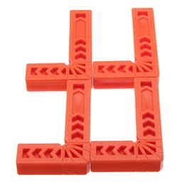 Angle Clamps Australia - 4Pcs 3 4 6 inch 90 Degrees Right Angle Clamps Corner Clamp Ruler Clamping Square Woodworking Fixer Hand Tool L Shape Fixing Clip