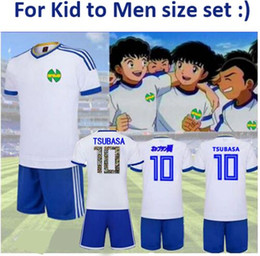 top quality youth soccer jerseys Canada - Top Quality Kid Men size Camisetas Maillot de Foot Captain Ozora Tsubasa Japan chool Youth Cosplay chile football kits Oliver soccer jerseys