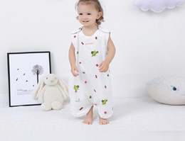 Multi Color Hand Bag Australia - Sleeping Bag for Kids 4 layers Cotton Breathe Freely,Split legs and hands Pajamas (4 colors for choice)