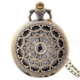China Large hollow design spider web pocket watch retro watch supply Classical pocket watch factory wholesale mens nacklace watches suppliers