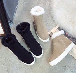 $enCountryForm.capitalKeyWord Australia - 2019 winter new fashion snow boots warm boots thick bottom women's shoes flat comfortable swim boots