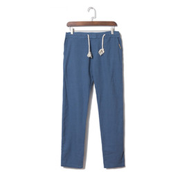 $enCountryForm.capitalKeyWord Australia - Men's Casual Slim Strandhosen Linen Loose linen pants men spring Casual Hose Pant Solid Elasticated Linen Style Trousers