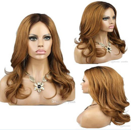 $enCountryForm.capitalKeyWord Australia - Celebrity Wig Lace Front Wigs Ombre Style Loose Wave Two Tone Malaysian Virgin Human Hair Honey Blonde Full Lace Wigs Free Shipping