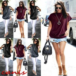 baa791b1 2019 Ladies Batwing Sleeve Baggy Oversized Loose Fit Turn up Women O Neck T- Shirt Top