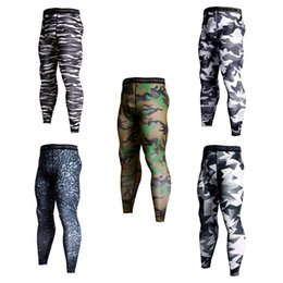Trouser sweaT panTs online shopping - Various Sports Pants Camouflage Football Tight Trousers Elastic Force Sweat Absorption Tights Fitness Pants Men Autumn htH1