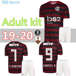 Wholesale Adult kit Flamengo CR home red soccer jerseys GUERRERO DIEGO adult kit Flamenco men football shirts top thai quality