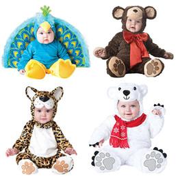 $enCountryForm.capitalKeyWord Canada - Baby Christmas Halloween Cosplay Costume Peacocks polar bears leopards monkeys Jumpsuit Boys Girls Clothes Set Kids Outfits