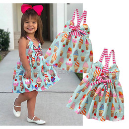17344fc930c4 retail baby girl dresses summer sleeveless suspender backless cute Ice  Cream Princess Dress fashion sweet prom dress kids designer clothes