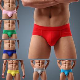 Wholesale men's boxer briefs spandex resale online - 2020 Comfy Briefs Underwear Men s Soft Solid Color Seamless New Underwear Men s Fashion Cotton Pack Comfy Boxers New