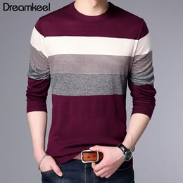 $enCountryForm.capitalKeyWord Australia - Sweater Men Brand Clothing 2019 Autumn Winter New Arrival Slim Warm Sweaters O-Neck Pullover Men Casual Striped Pull Y