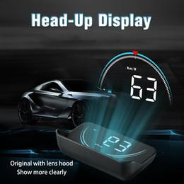 Car Heads Up Display Australia - New M8 HUD Head Up Display Car-styling Hud Display Overspeed Warning Windshield Projector Car Alarm System Universal Auto