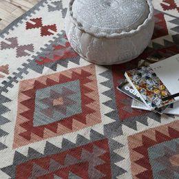 $enCountryForm.capitalKeyWord NZ - India Manual Wool Kilim Wind Geometry Carpet A Living Room Bedroom Table Bedside Carpet Tapestry