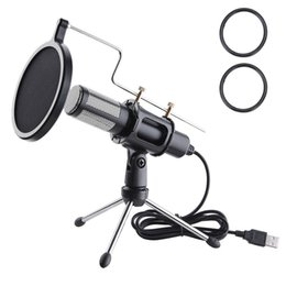 Wholesale Condenser USB Microphone w Tripod Stand for Game Chat Studio Recording Computer