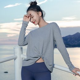 6c2575773b2 Womens Gym Shirts Australia - Loose Breathable Yoga Top Solid Long Sleeve  Sport Top Fieness Workout