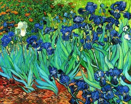 van gogh prints canvas NZ - Van Gogh Irises Repro High Quality Handpainted & HD Print Impressionist Art Oil Painting On Canvas Wall Art Home Office Deco l23