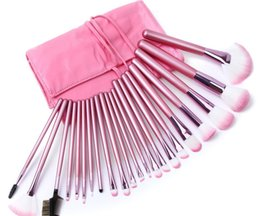$enCountryForm.capitalKeyWord Australia - Hot New Makeup brushes makeup brush 22pcs Professional Brush sets Goat hair Pink DHL shipping+Gift